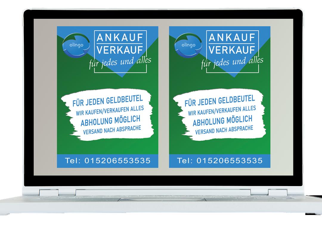 Olingo An- und Verkauf (Flyer)