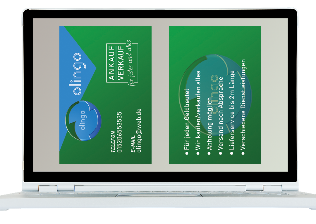 Olingo An- und Verkauf (Visitenkarten)